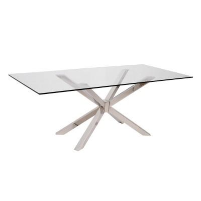 Mesa de Jantar Cross Metal