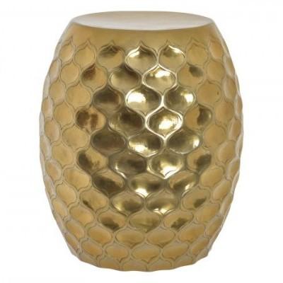 Mesa de Apoio Barrel Dourada