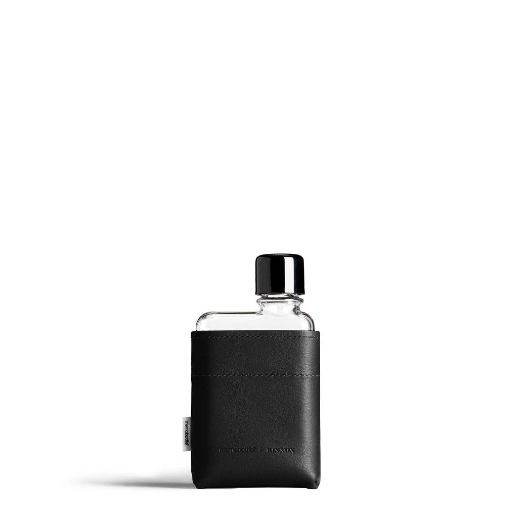 A7 Black Leather Sleeve memobottle