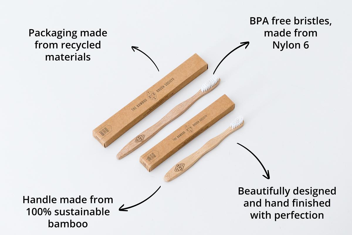 Escova de dentes bambu - Criança