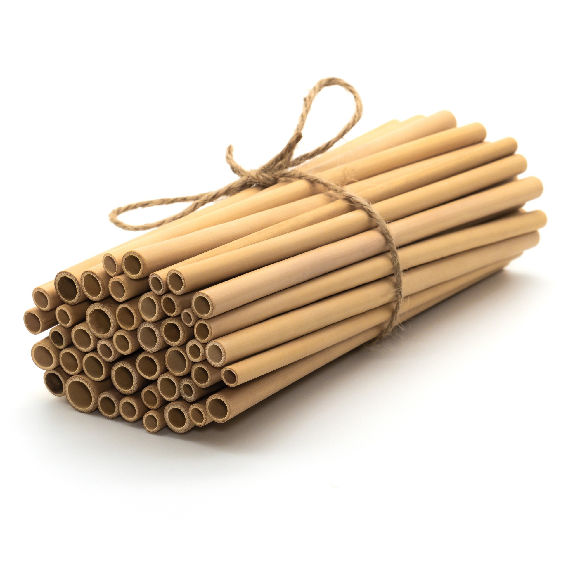 20 CANAS DE BAMBU NATURAL / NATURAL BAMBOO STRAWS _ Set of 20