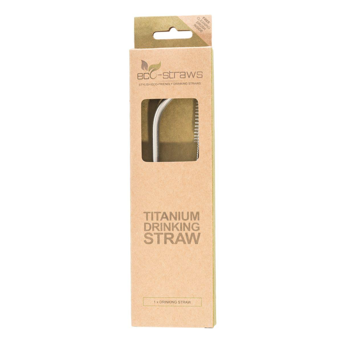 TITANIUM Drinking Straw (ANGLED)