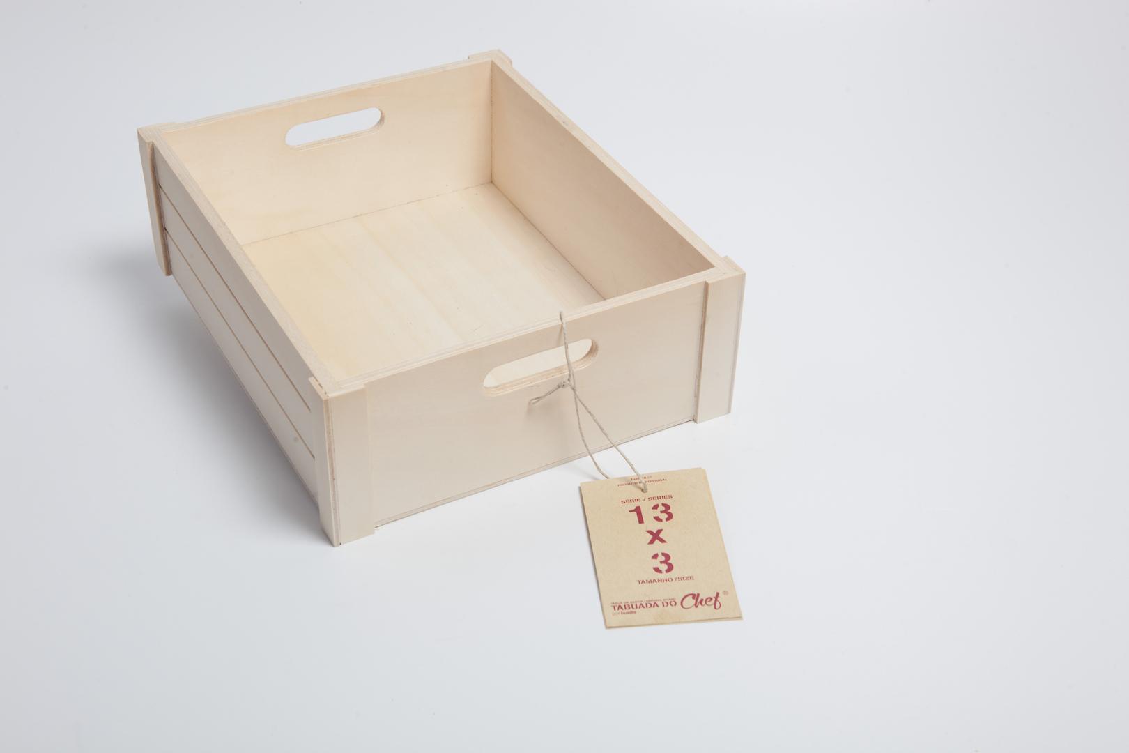 Caixa de Choupo média, 13x3