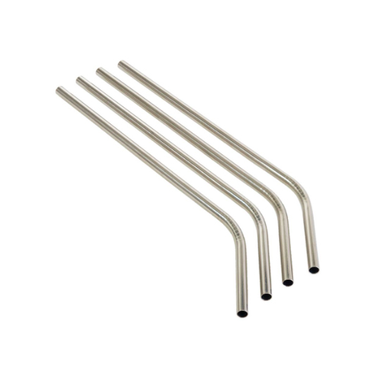 STAINLESS STEEL Drinking Straws (ANGLED)