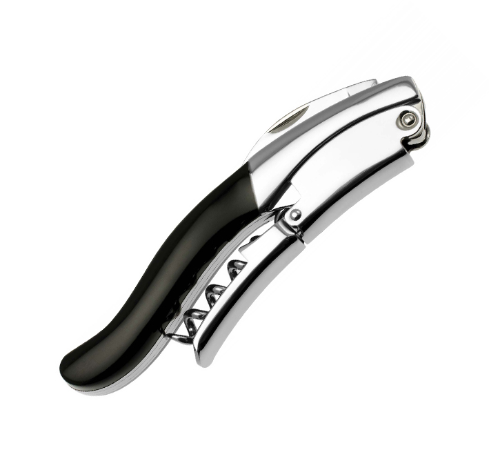 """Saca-rolhas / Corkscrew """"Ghemme"""" in stainless steel buffalo horn"""