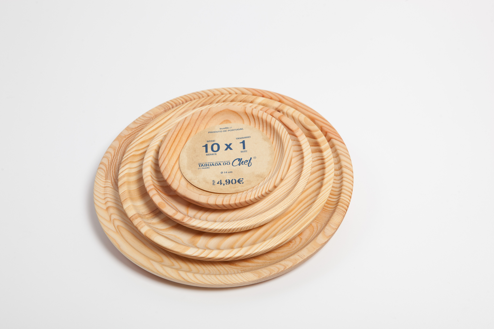 Pratos de madeira, conjunto de 4, 10x0
