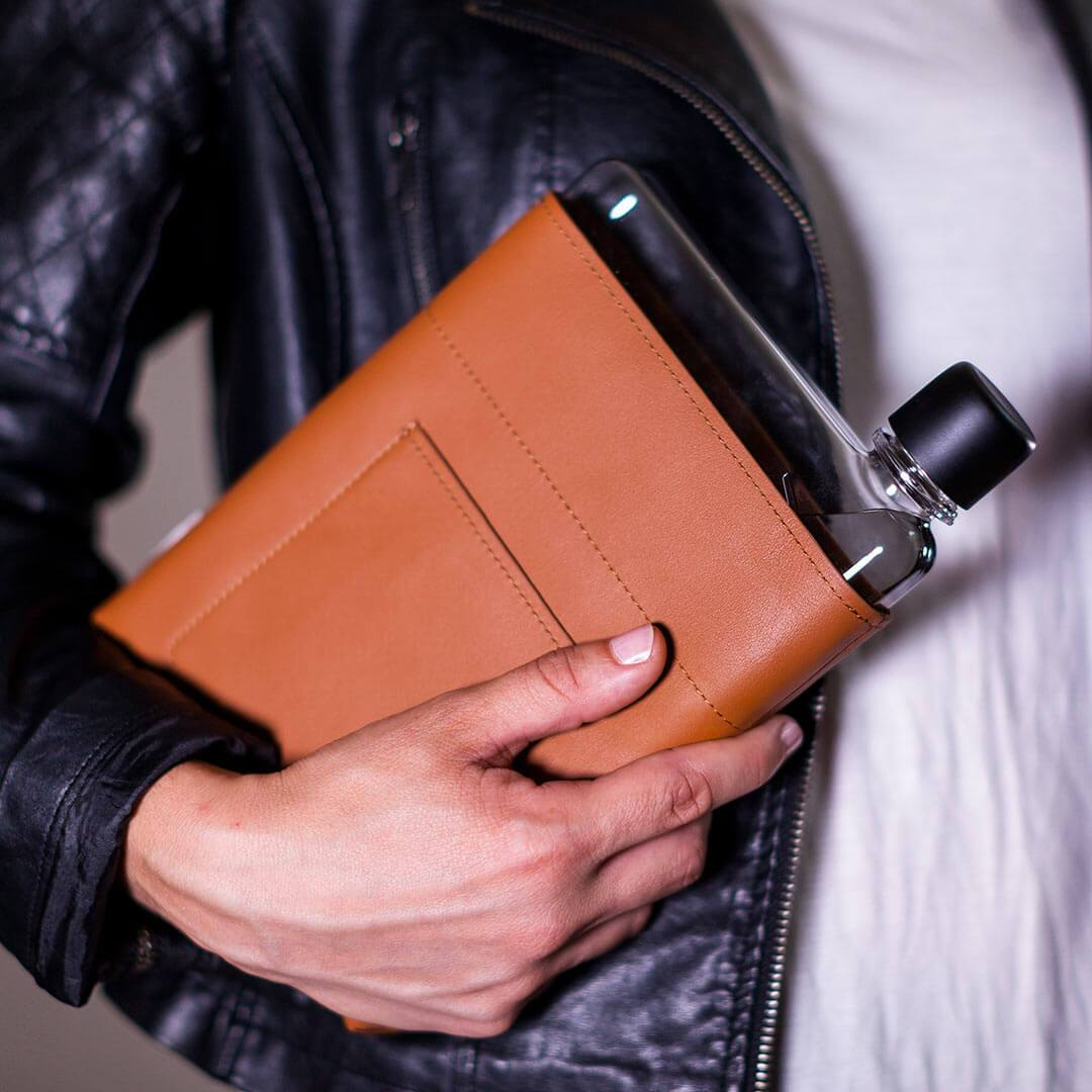 A5 Leather Sleeve memobottle