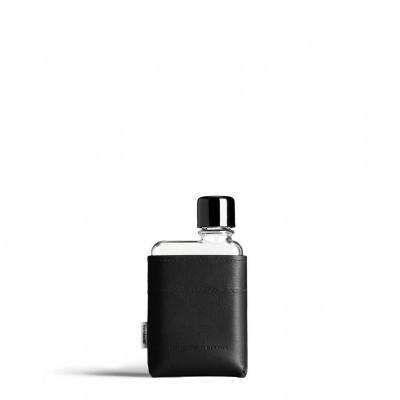 A7 Black Leather Sleeve memobottle