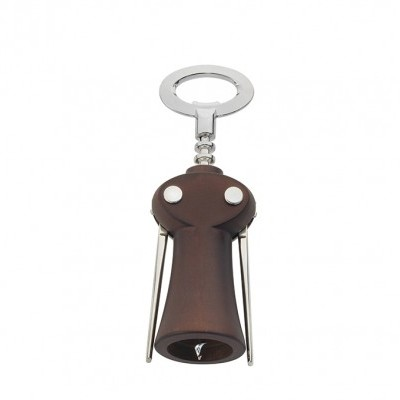 "Saca-rolhas / Winged corkscrew wine bottle opener ""Merlot"" – dark beech wood"
