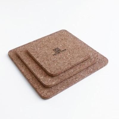 Bases de cortiça quadradas, Conjunto de 3