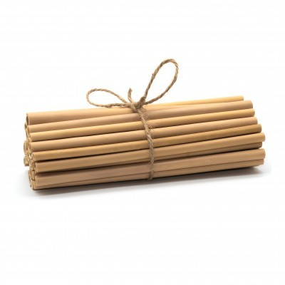 20 CANUDOS DE BAMBU NATURAL / NATURAL BAMBOO STRAWS _ Set of 20