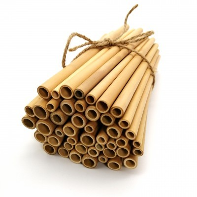50 CANUDOS DE BAMBU NATURAL / NATURAL BAMBOO STRAWS _ Set of 50