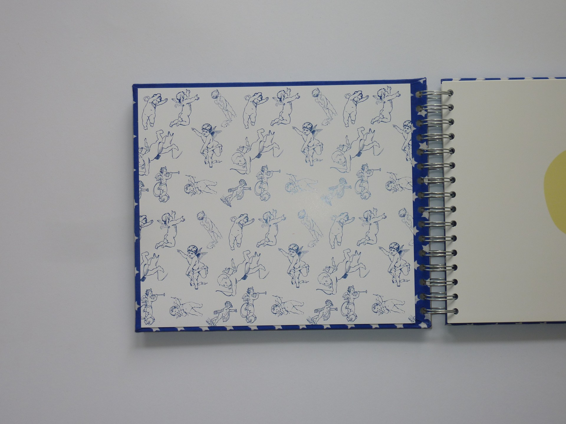 Royal blue with white stars (The baby's notebook)