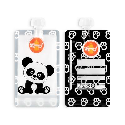 Pacote reutilizável Squeez - Panda 100ml