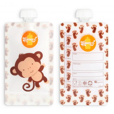 Pacote reutilizável Squeez - Macaco 150ml