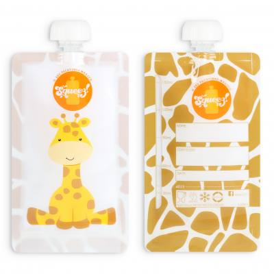 Pacotinho Reutilizável Squeez - Girafa 150ml