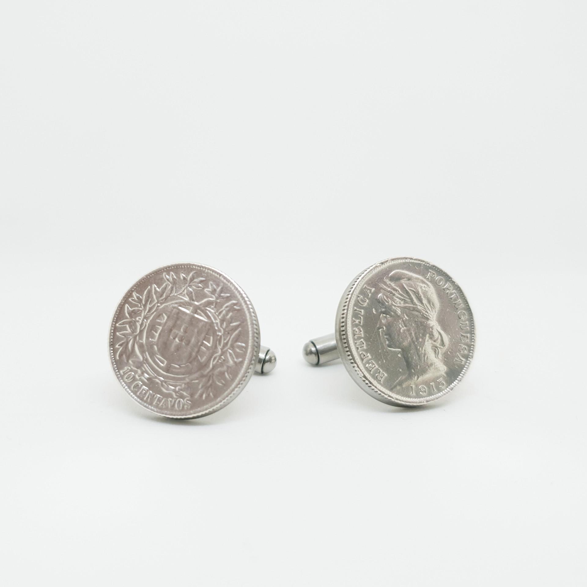 Botões de punho $10 Centavos (Prata)