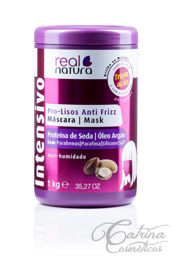 Real Natura - Máscara Pro-Lisos Anti Frizz