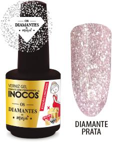 Verniz Gel Inocos - Diamante Prata