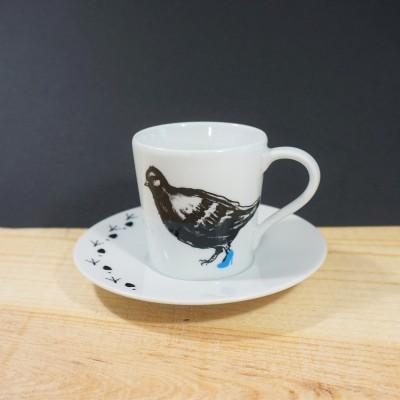 Dona Migalhas (preto & azul) - Chávena de café