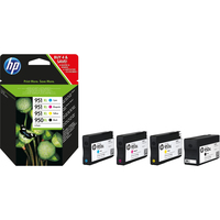 HP 950XL / 951XL Pack Preto + Cyan + Magenta + Amarelo Ink Cartridge