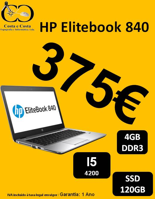 Portatil HP Elitebook 840