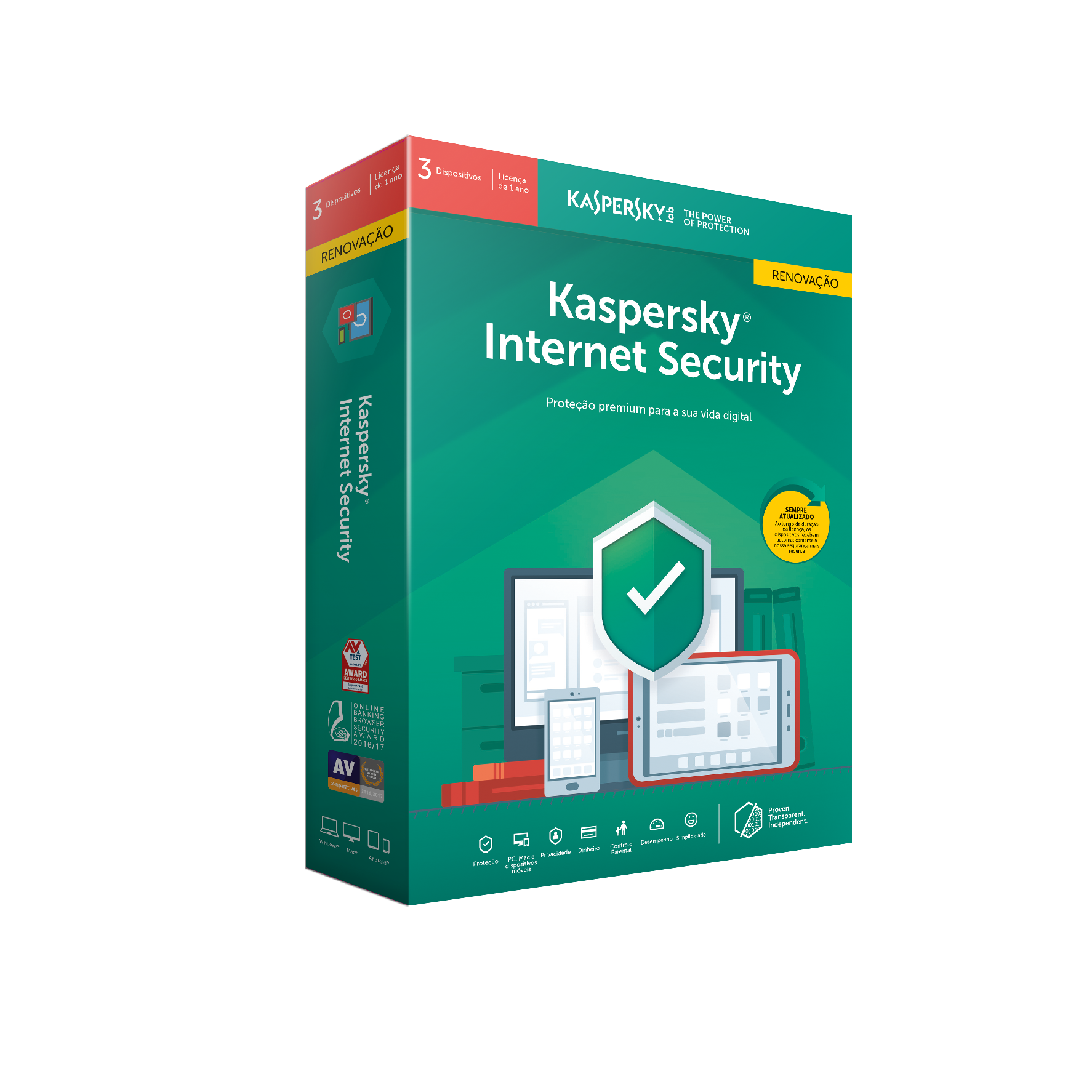 Software Kaspersky Internet Security 2019 MD 3 User Renewal 1 Ano