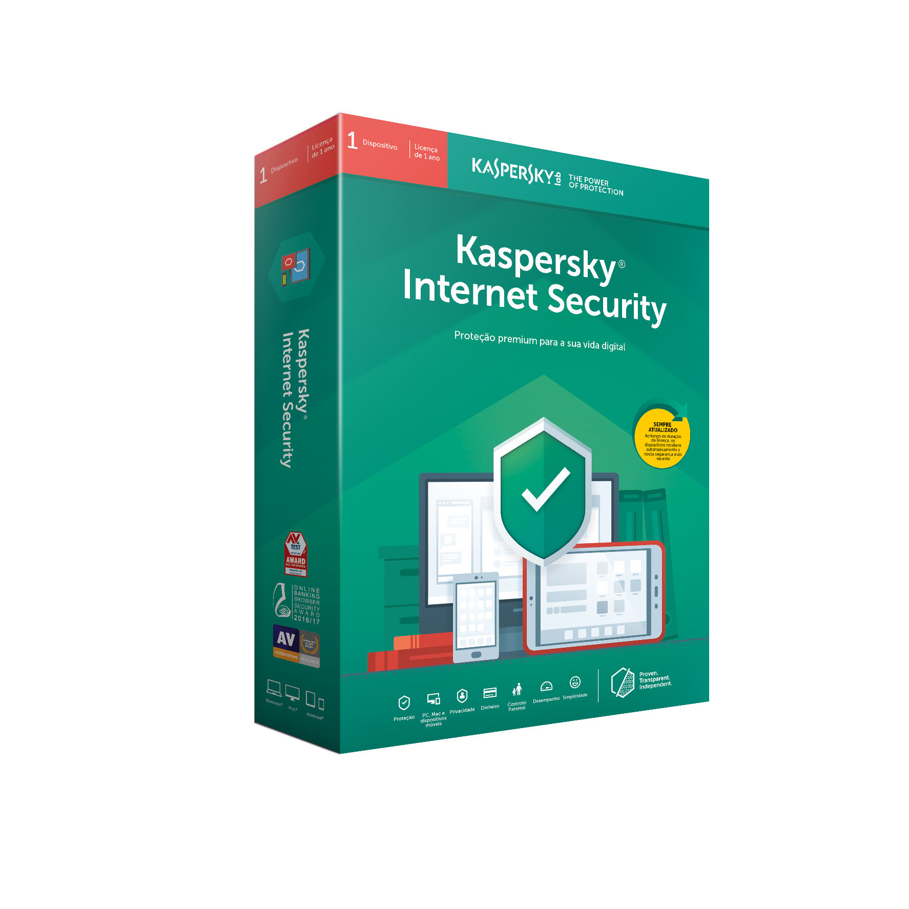 Software Kaspersky Internet Security 2019 MD 1 User 1 Ano BOX