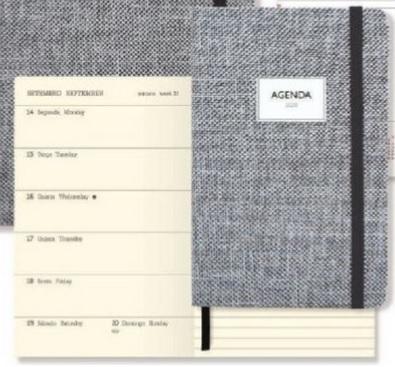 Agenda 90x140mm Semanal Bolso Gray c/ Elastico