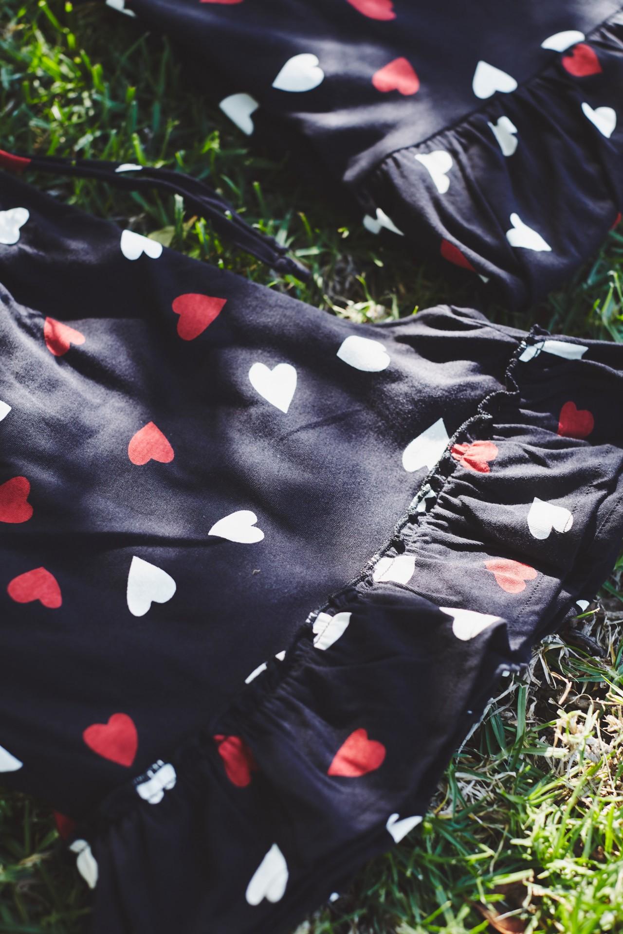 Calções Rosaceae corações