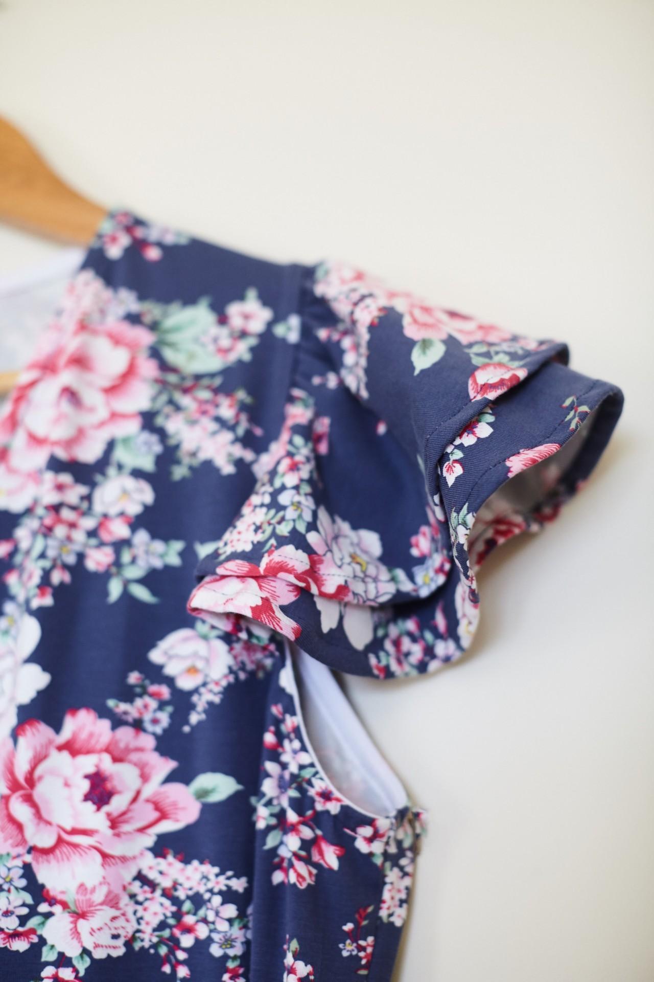 Vestido Dahlia Flores Rosas