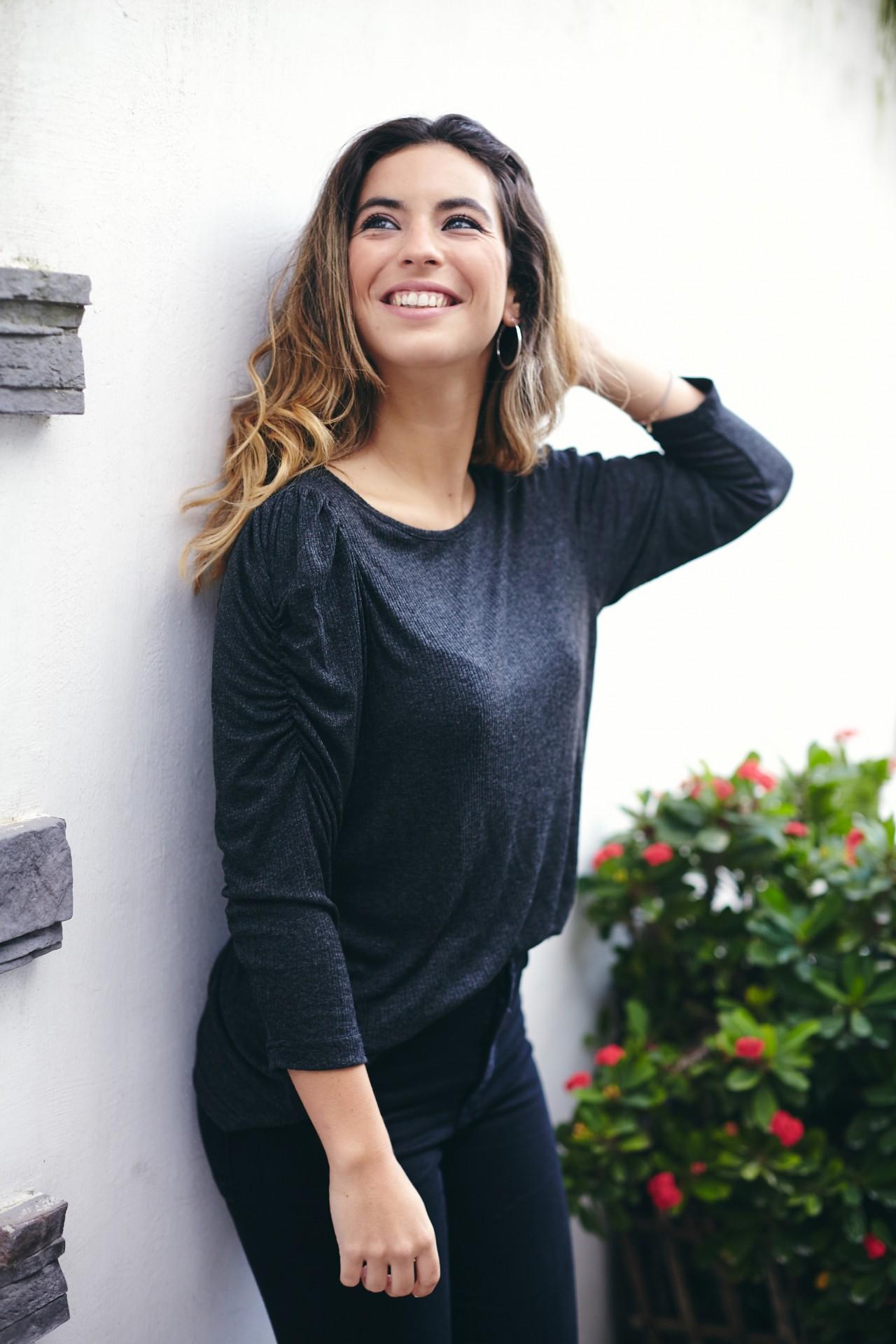 Azinheira Blusa Cinza Escura listada