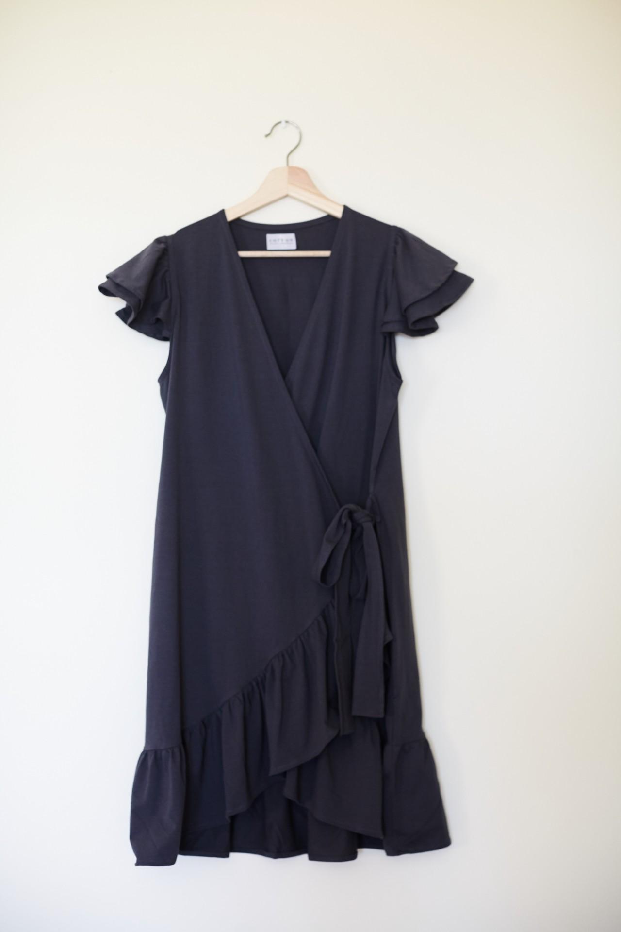 Vestido Dahlia Cinza Escuro