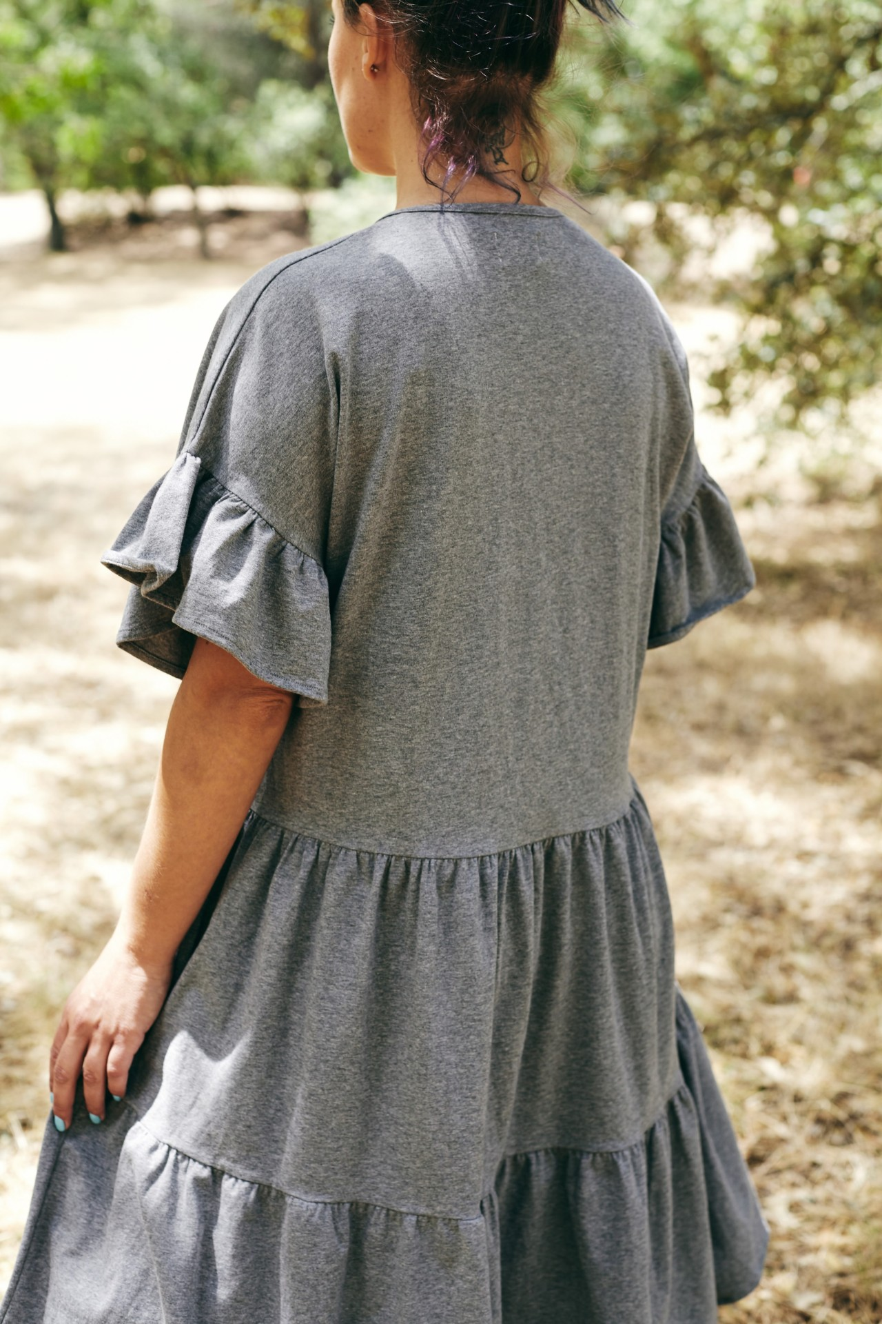 Vestido Helianthus cinza