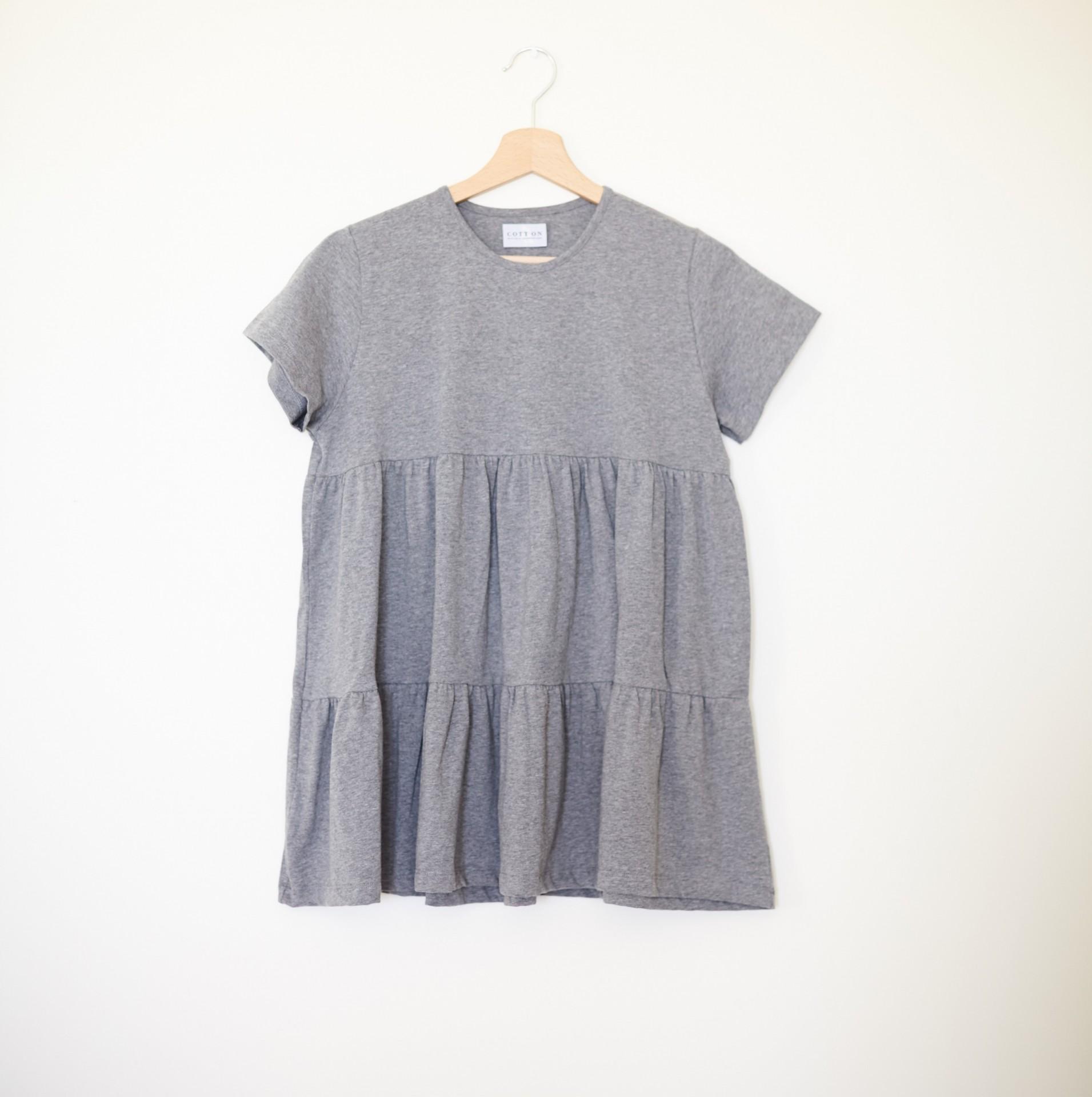 T-shirt Viola Cinza