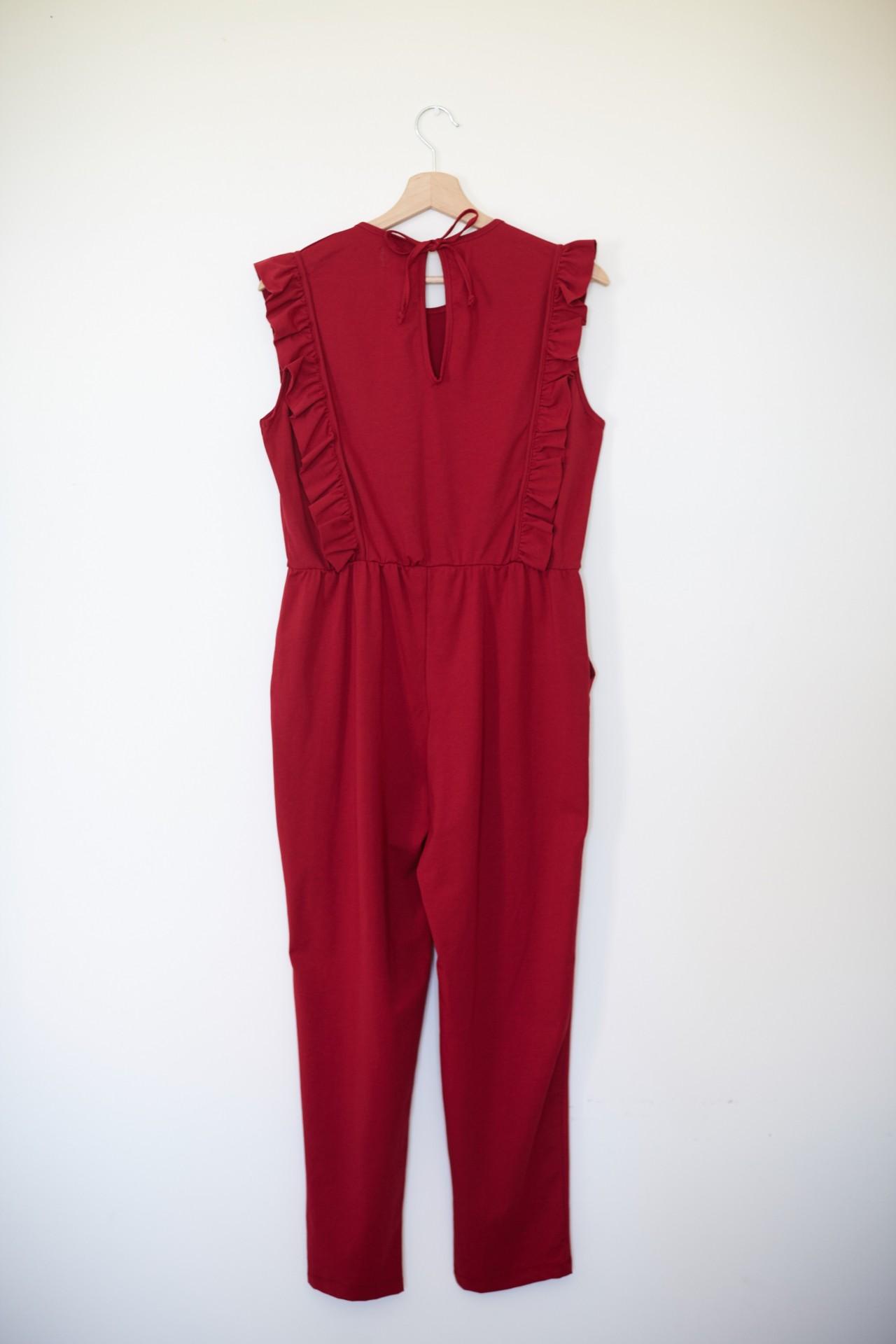Macacão Hydrangea vermelho