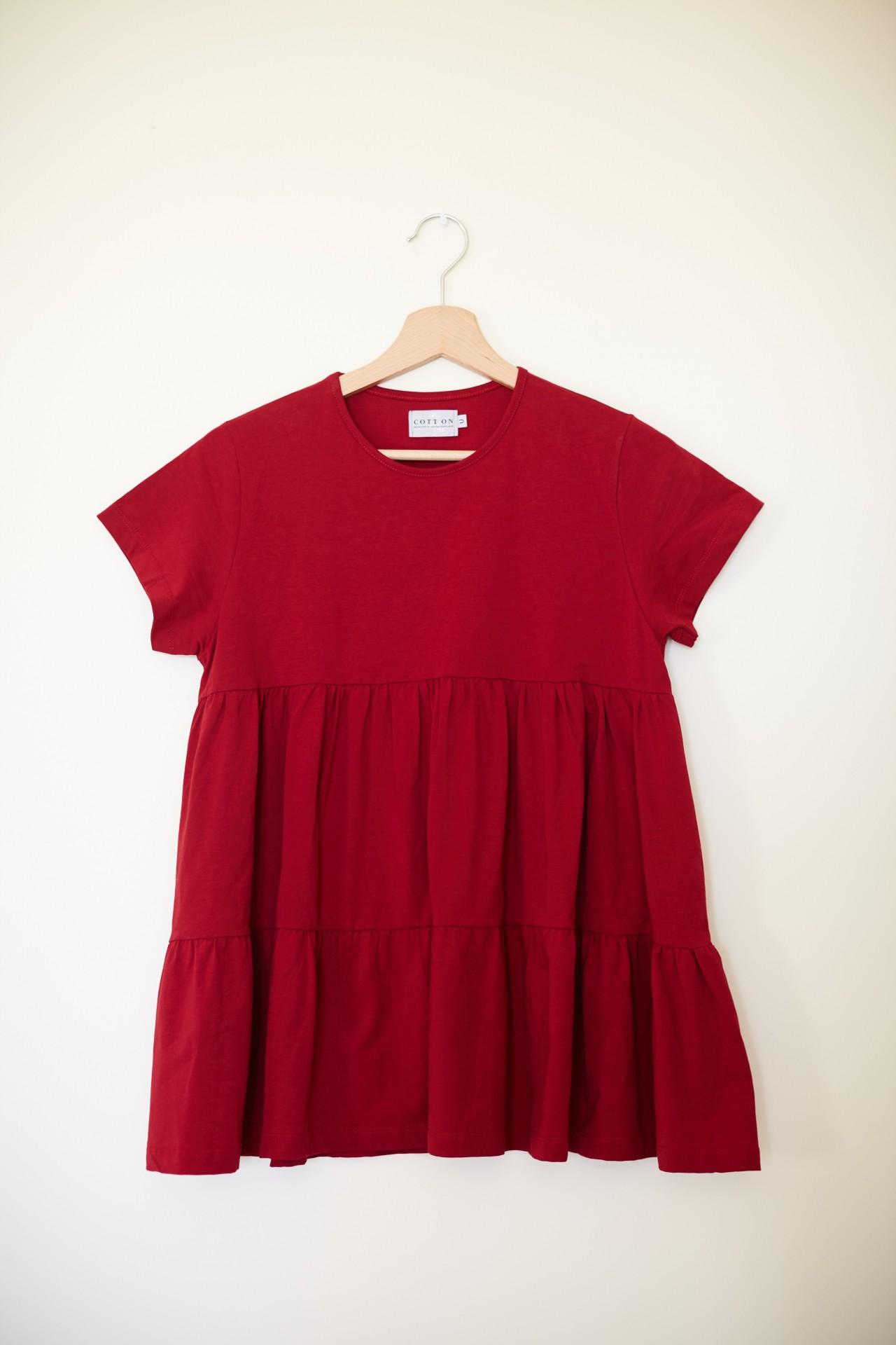 T-shirt Viola Vermelho