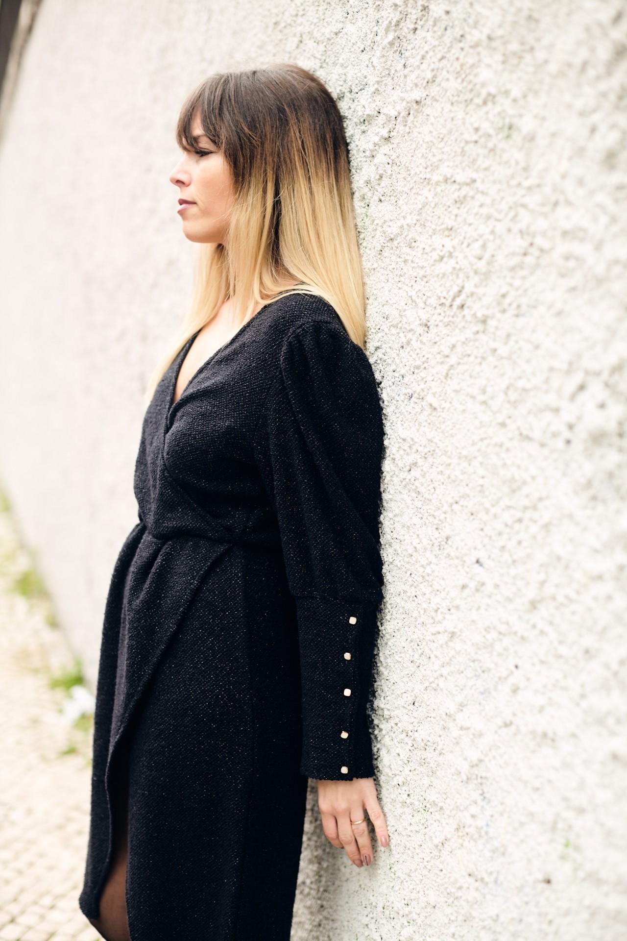 Cipreste Dress Preto Dourado
