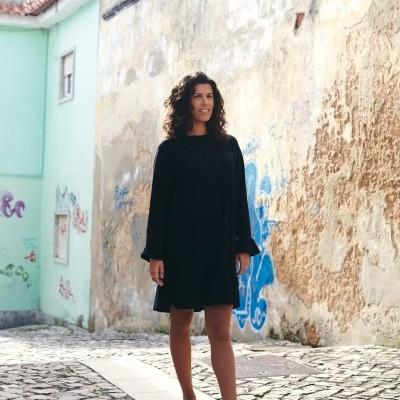 Castanheiro Dress Preto Mesclado