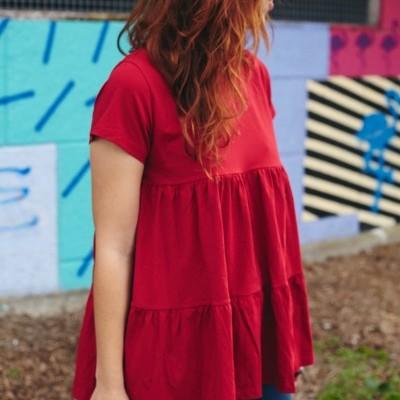 Teixo Blusa Vermelha
