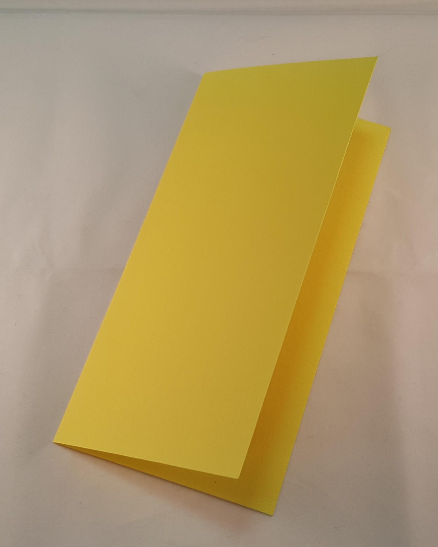 Cartão DL colorido cor amarelo limão