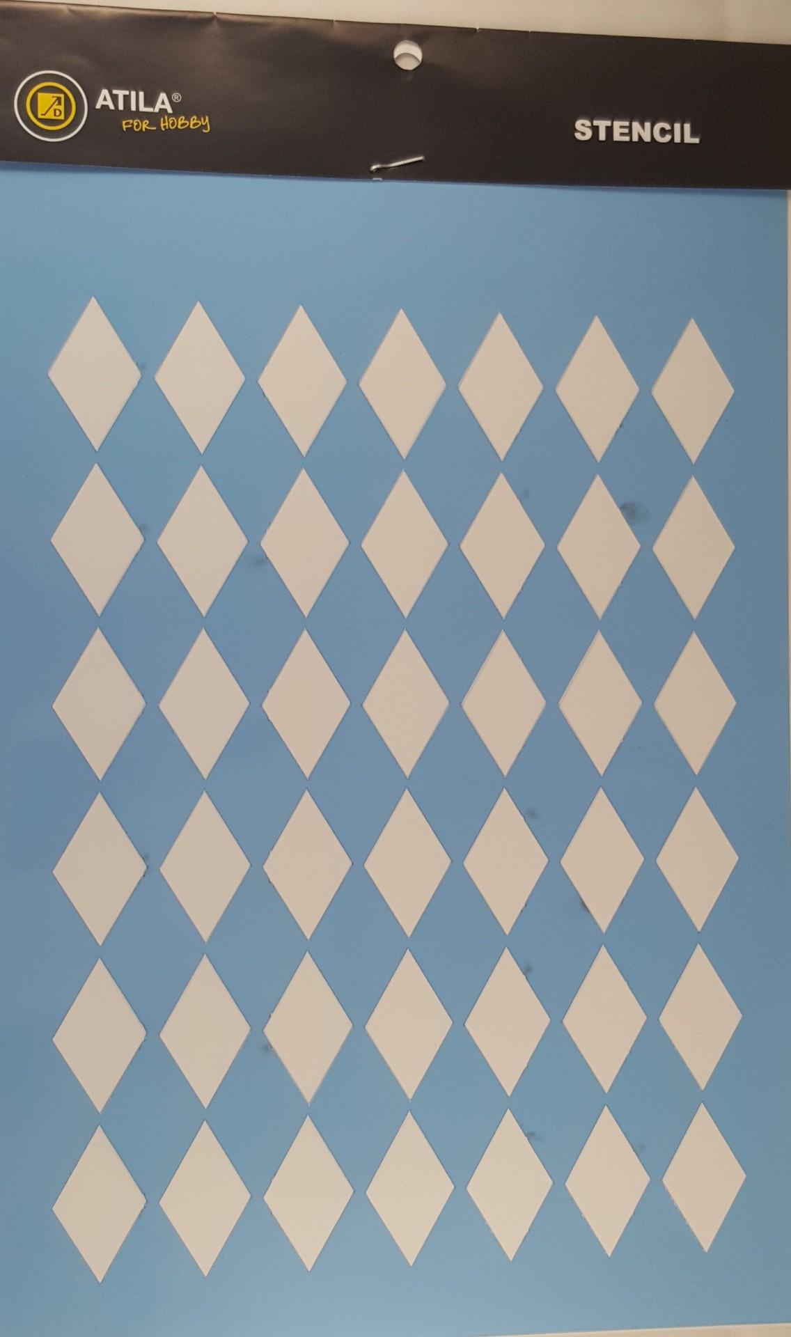 Stencil padrão losângulos