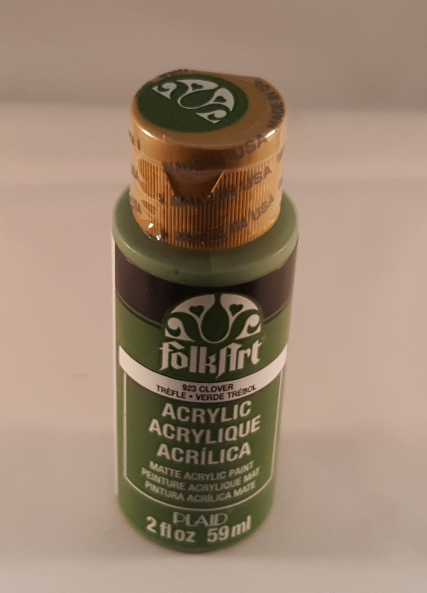 Tinta Acrílica Folkart verde trébol