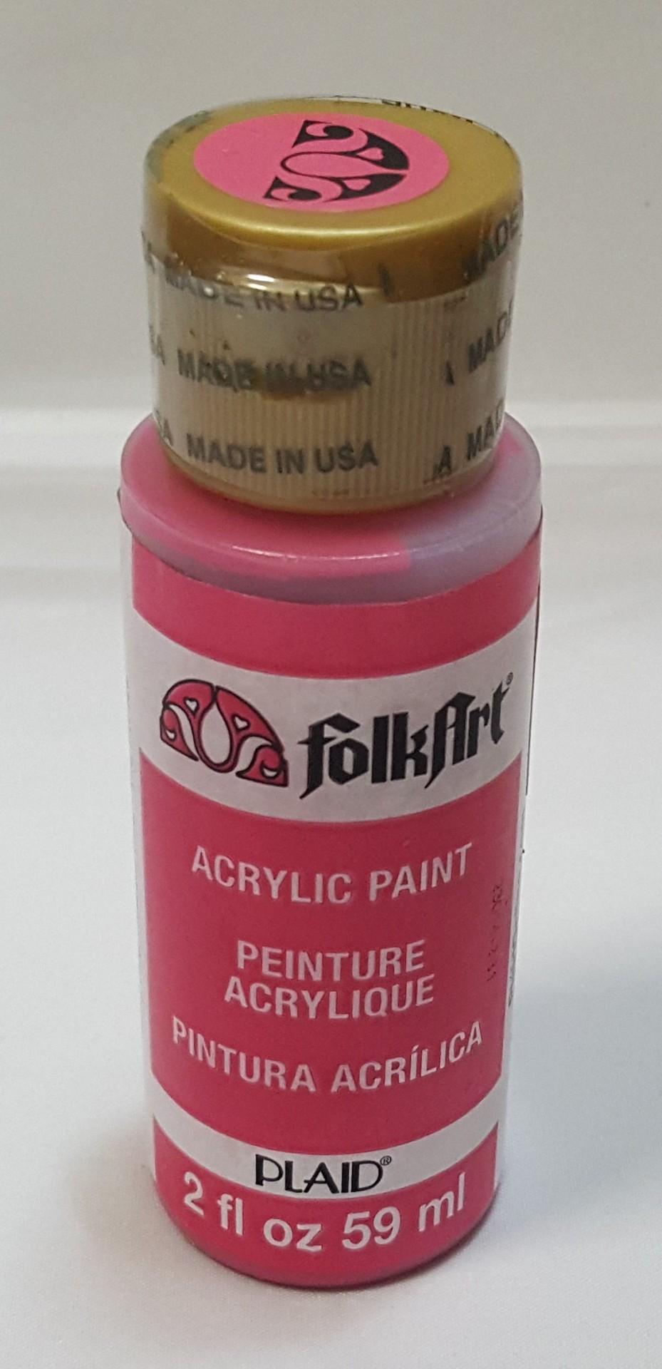 Tinta Acrílica Folkart rosa forte