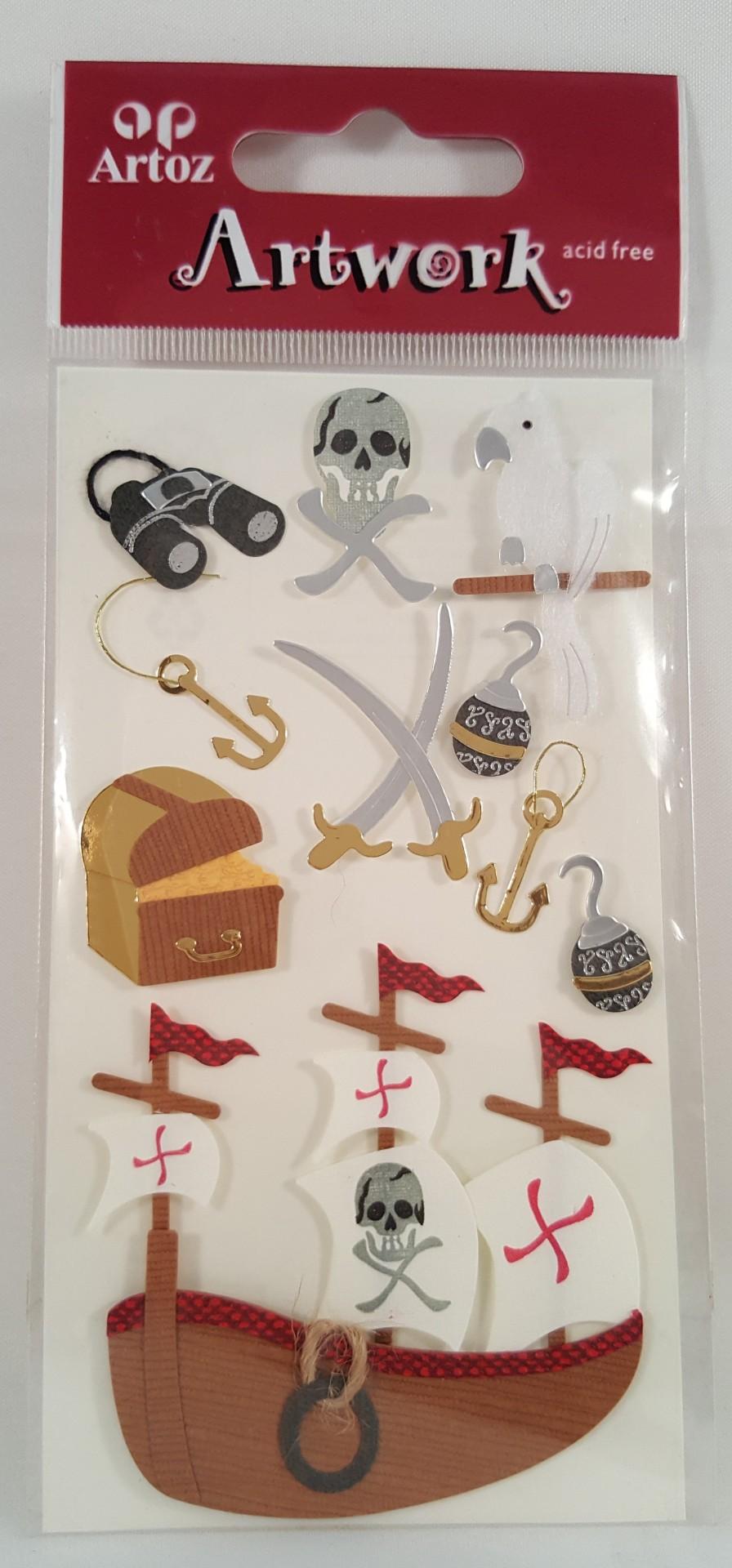 Aplicações scrapbooking - piratas -Artoz Artwork