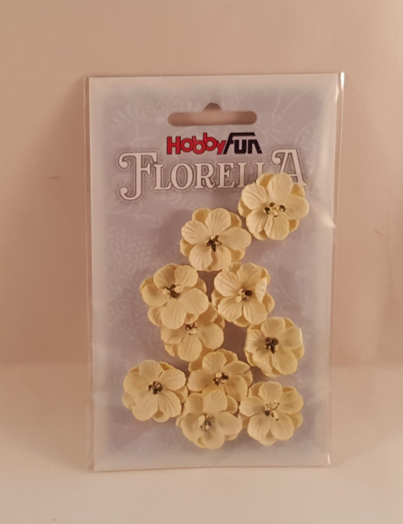 Flores de papel amarelas para scrapbooking