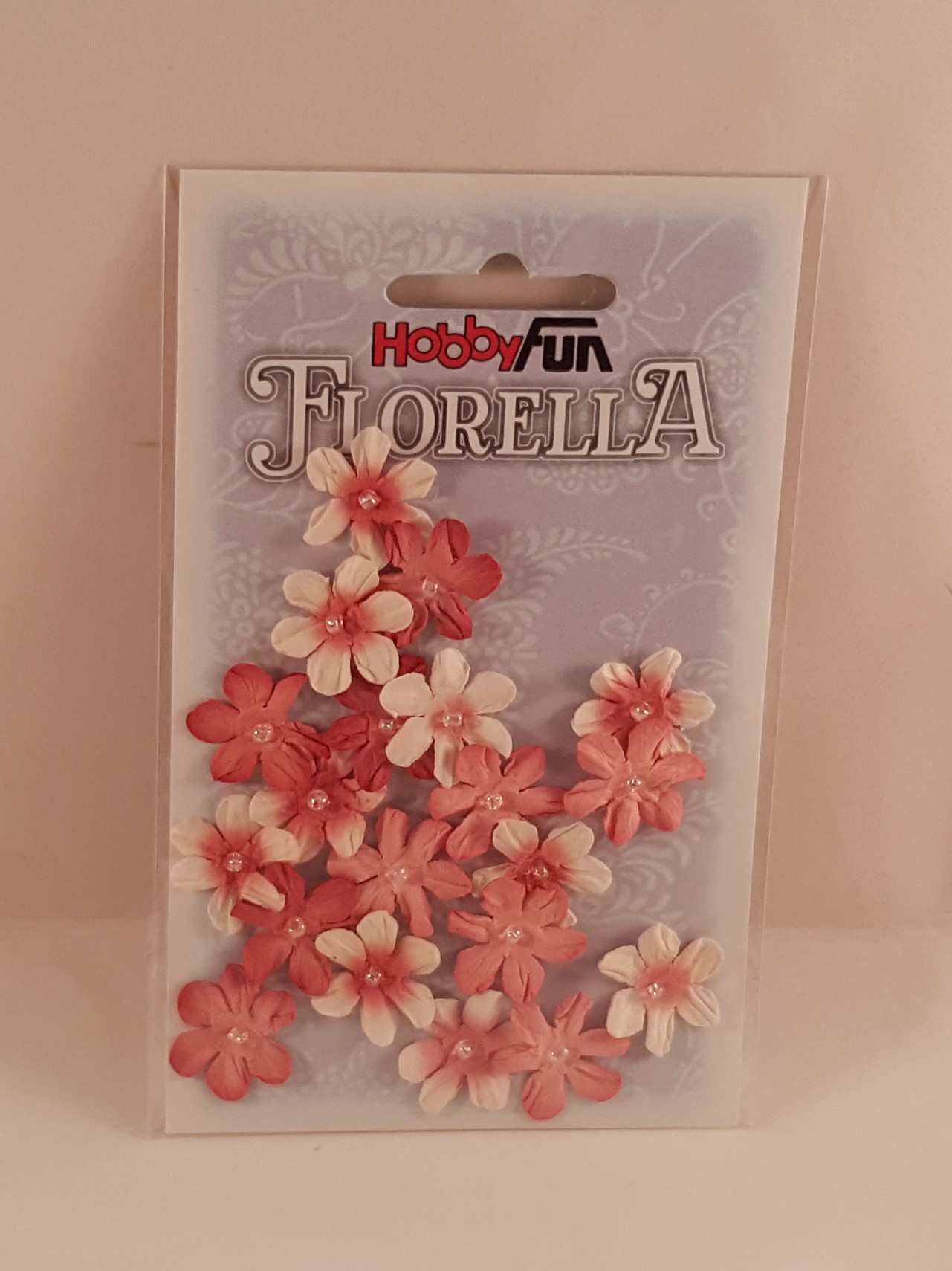 Flores de papel rosa escuro e branco para scrapbooking