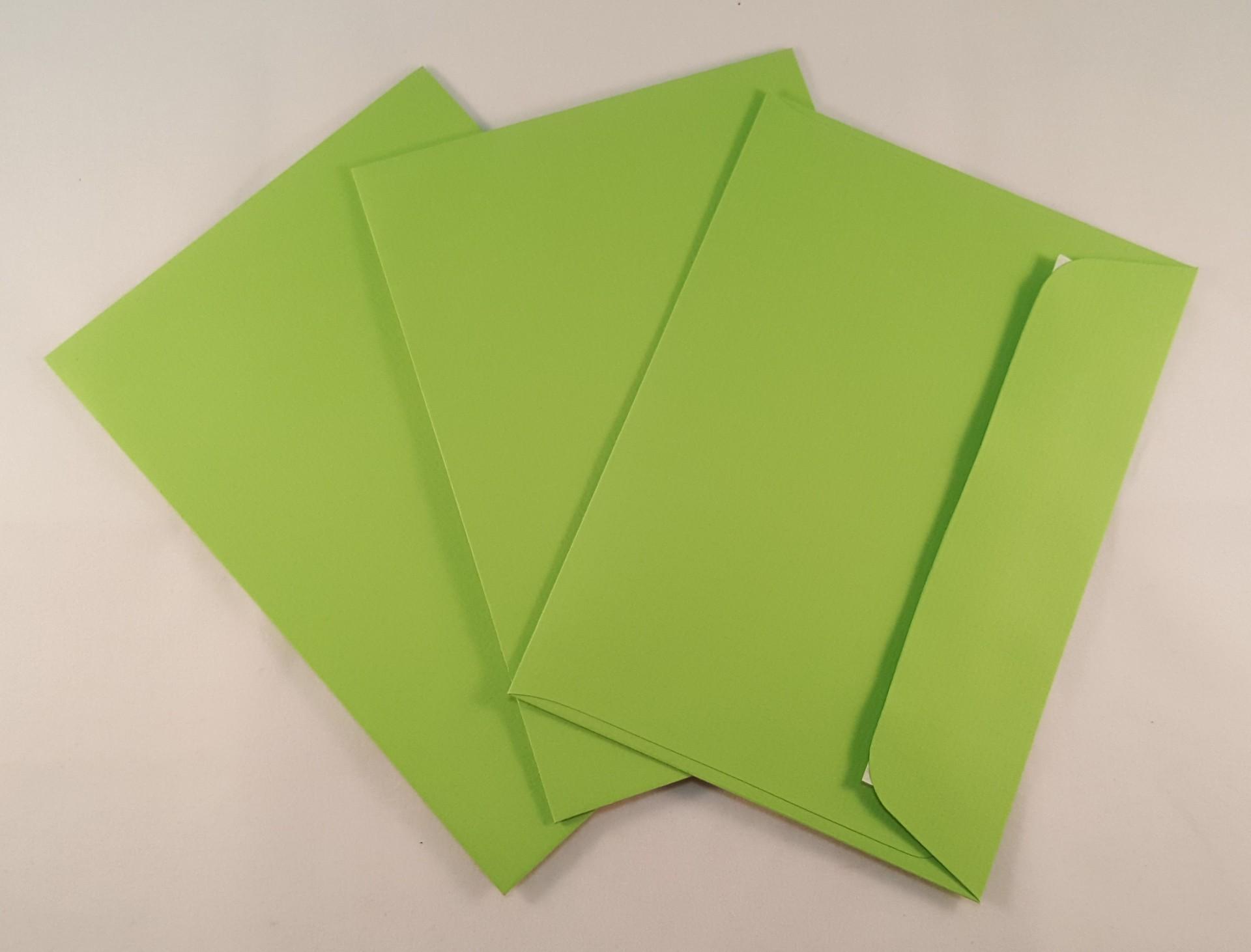 Envelopes C6 coloridos cor verde