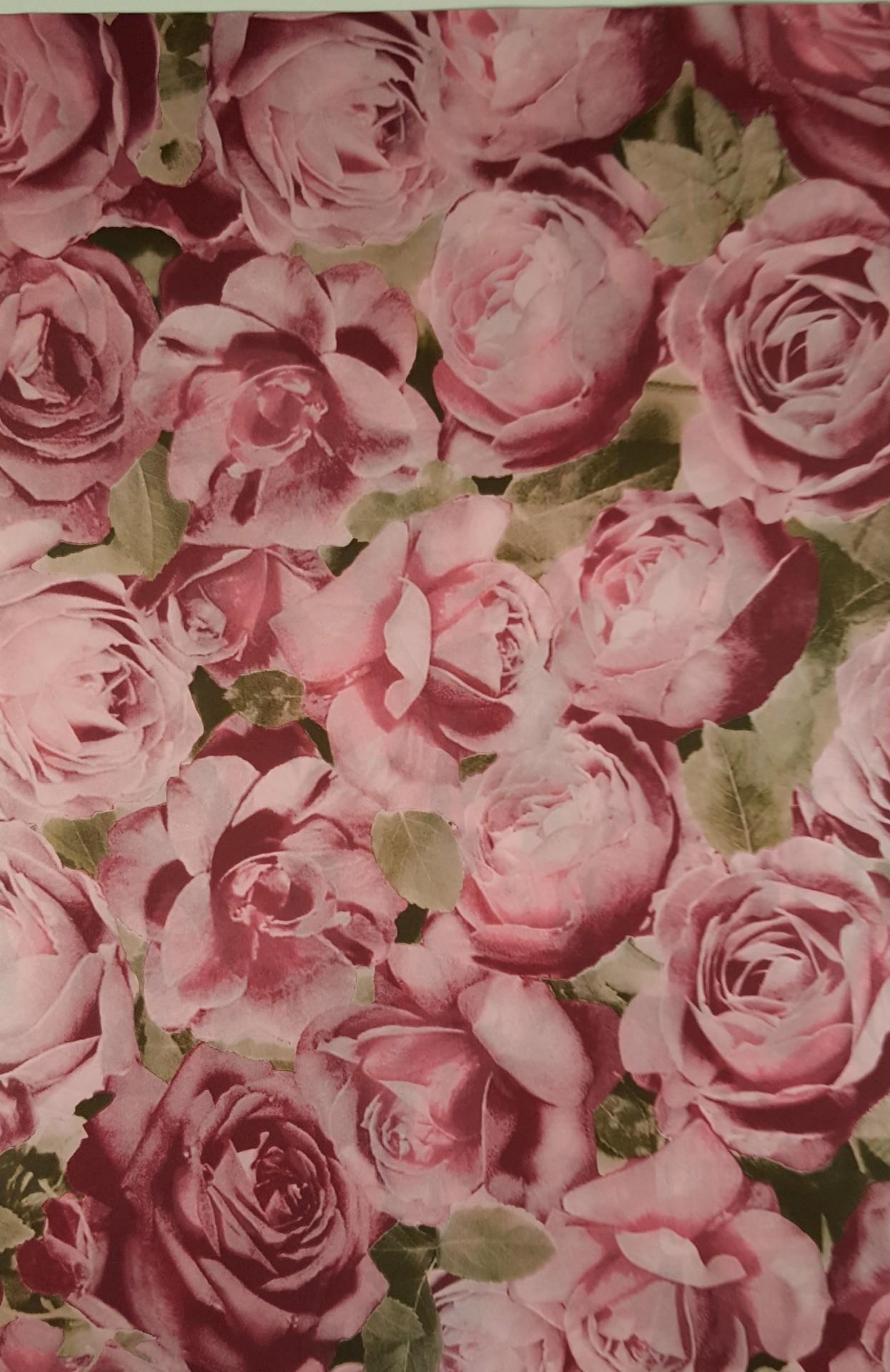 Papel  Décopatch - rosas