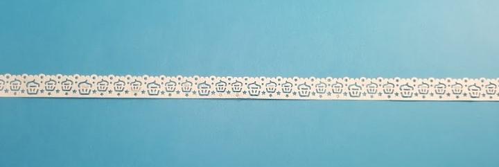 Renda papel autocolante recortada a laser-cupcakes- 10 mm - Artoz